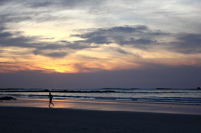 Running on Costa Rica Beach