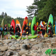 Costa rica river kayakers
