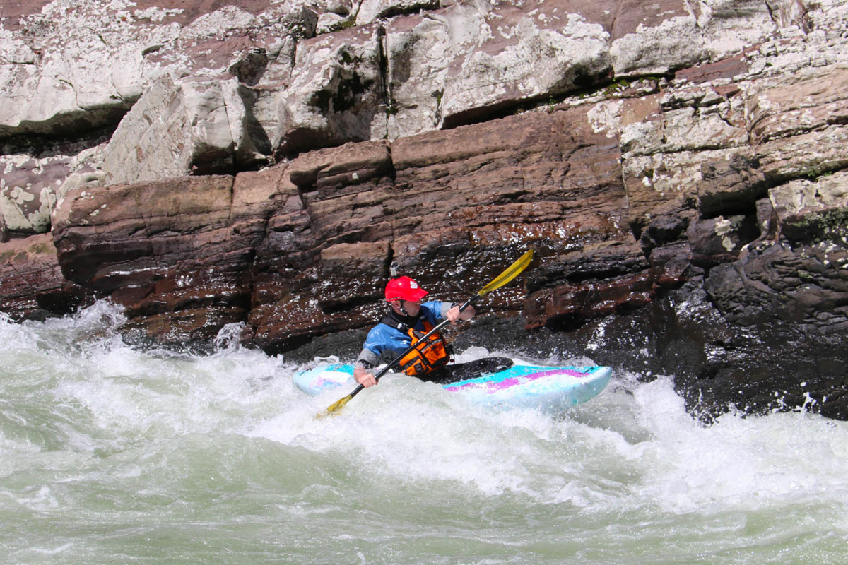 Kayaking By Wall