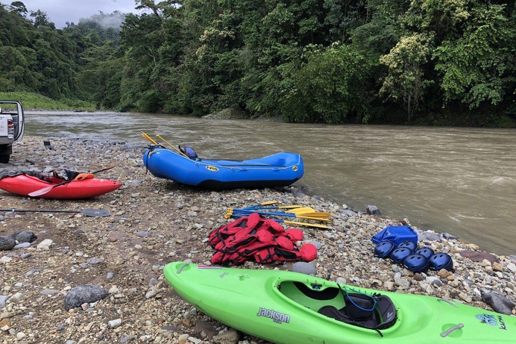 Kayaks On Costa Rica Beach